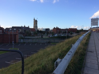 Clear blue skies over CCAD in Hartlepool