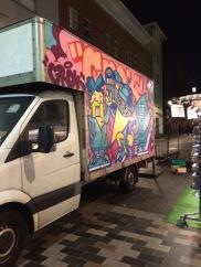 A van in Camden