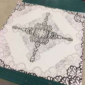 Design for fashion embroidery as part of Design Process for Surface Design module. Apr2017