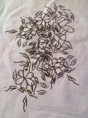Print and embroidery sample. Dec2015