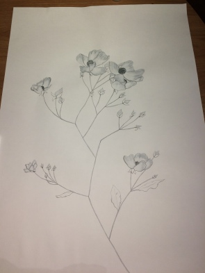 Floral drawing. Oct2016