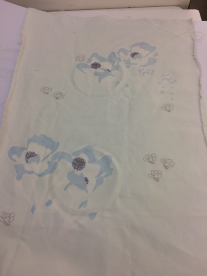 Textile Techniques for Design print and embroidery piece. Jan2017